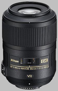 image of the Nikon 85mm f/3.5G ED VR DX AF-S Micro Nikkor lens