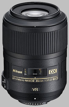image of the Nikon 85mm f/3.5G ED VR DX AF-S Micro Nikkor lens