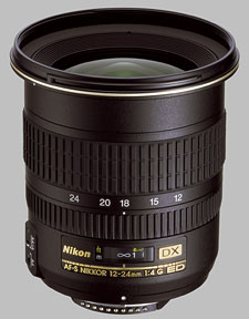 image of the Nikon 12-24mm f/4G ED-IF DX AF-S Nikkor lens