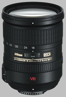 image of the Nikon 18-200mm f/3.5-5.6G IF-ED VR DX AF-S Nikkor lens