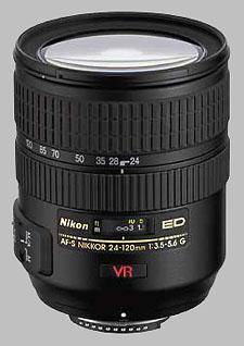 image of the Nikon 24-120mm f/3.5-5.6G ED-IF VR AF-S Nikkor lens