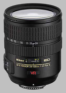 image of the Nikon 24-120mm f/3.5-5.6G ED-IF VR AF-S Nikkor lens