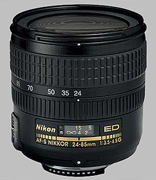 image of the Nikon 24-85mm f/3.5-4.5G ED-IF AF-S Nikkor lens