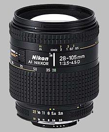 image of the Nikon 28-105mm f/3.5-4.5D AF Nikkor lens
