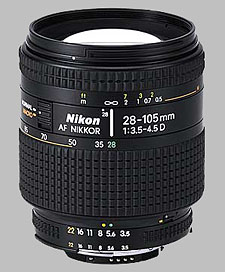 image of the Nikon 28-105mm f/3.5-4.5D AF Nikkor lens