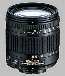 image of the Nikon 28-200mm f/3.5-5.6G ED-IF AF Nikkor lens
