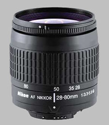 image of the Nikon 28-80mm f/3.3-5.6G AF Nikkor lens