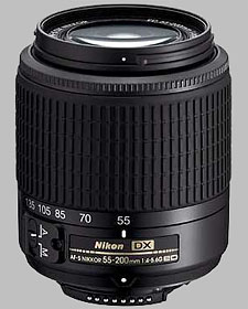 image of the Nikon 55-200mm f/4-5.6G ED DX AF-S Nikkor lens