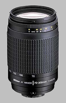 image of the Nikon 70-300mm f/4-5.6G AF Nikkor lens