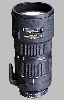 image of the Nikon 80-200mm f/2.8D ED AF Nikkor lens