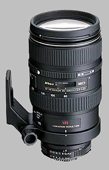 image of the Nikon 80-400mm f/4.5-5.6D ED VR AF Nikkor lens