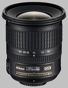 image of the Nikon 10-24mm f/3.5-4.5G ED DX AF-S Nikkor lens