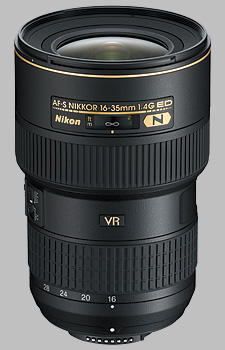 image of the Nikon 16-35mm f/4G ED VR II AF-S Nikkor lens