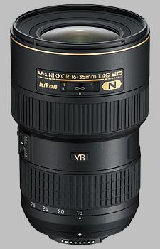 image of the Nikon 16-35mm f/4G ED VR II AF-S Nikkor lens
