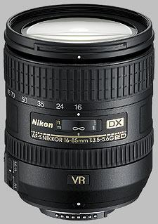 image of the Nikon 16-85mm f/3.5-5.6G ED VR DX AF-S Nikkor lens