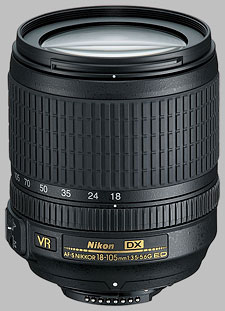 image of the Nikon 18-105mm f/3.5-5.6G ED VR DX AF-S Nikkor lens
