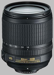image of the Nikon 18-105mm f/3.5-5.6G ED VR DX AF-S Nikkor lens