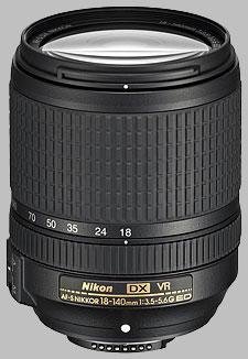 image of the Nikon 18-140mm f/3.5-5.6G ED DX VR AF-S Nikkor lens