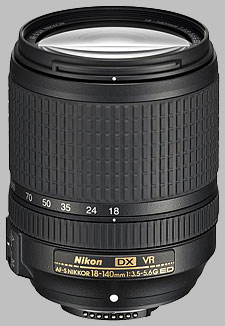 image of the Nikon 18-140mm f/3.5-5.6G ED DX VR AF-S Nikkor lens