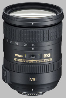 image of the Nikon 18-200mm f/3.5-5.6G IF-ED VR II DX AF-S Nikkor lens