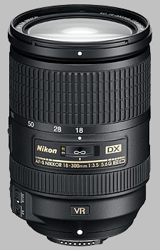 image of the Nikon 18-300mm f/3.5-5.6G ED VR DX AF-S Nikkor lens