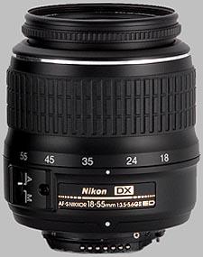 image of the Nikon 18-55mm f/3.5-5.6G ED II DX AF-S Nikkor lens