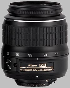 image of the Nikon 18-55mm f/3.5-5.6G ED II DX AF-S Nikkor lens