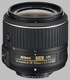 image of the Nikon 18-55mm f/3.5-5.6G VR II DX AF-S Nikkor lens