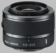 image of the Nikon 1 10-30mm f/3.5-5.6 Nikkor VR lens