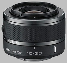 image of the Nikon 1 10-30mm f/3.5-5.6 Nikkor VR lens