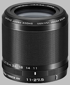 image of the Nikon 1 11-27.5mm f/3.5-5.6 AW Nikkor lens