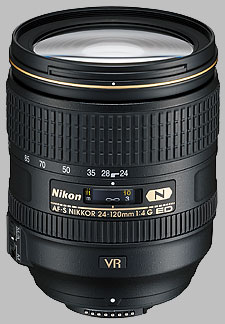 image of the Nikon 24-120mm f/4G ED VR AF-S Nikkor lens