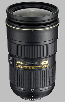 image of the Nikon 24-70mm f/2.8G IF-ED AF-S Nikkor lens