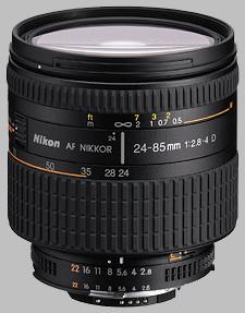 image of the Nikon 24-85mm f/2.8-4D IF AF Nikkor lens