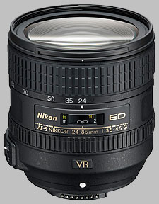image of the Nikon 24-85mm f/3.5-4.5G ED VR AF-S Nikkor lens