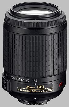 image of the Nikon 55-200mm f/4-5.6G IF-ED VR DX AF-S Nikkor lens