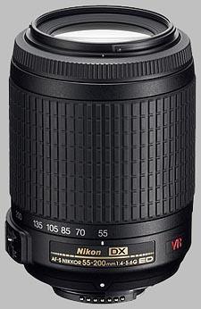 image of the Nikon 55-200mm f/4-5.6G IF-ED VR DX AF-S Nikkor lens