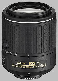 image of the Nikon 55-200mm f/4-5.6G ED DX VR II AF-S Nikkor lens