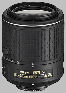image of the Nikon 55-200mm f/4-5.6G ED DX VR II AF-S Nikkor lens