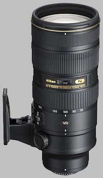 image of the Nikon 70-200mm f/2.8G ED VR II AF-S Nikkor lens
