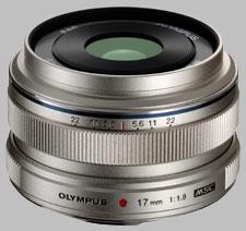 image of the Olympus 17mm f/1.8 M.Zuiko Digital lens