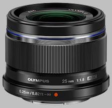 image of the Olympus 25mm f/1.8 M.Zuiko Digital lens