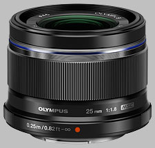 image of the Olympus 25mm f/1.8 M.Zuiko Digital lens