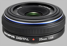 image of the Olympus 25mm f/2.8 Zuiko Digital lens