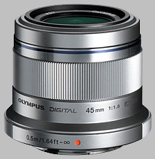 image of the Olympus 45mm f/1.8 ED M.Zuiko Digital lens