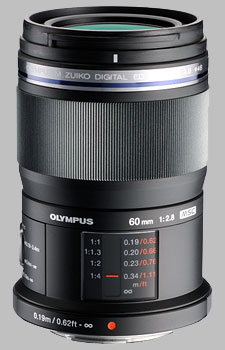 image of the Olympus 60mm f/2.8 M.Zuiko Digital ED lens
