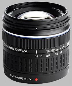 image of the Olympus 14-42mm f/3.5-5.6 ED Zuiko Digital lens