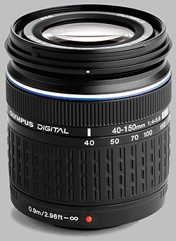 image of the Olympus 40-150mm f/4-5.6 ED Zuiko Digital lens