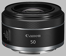 image of the Canon RF 50mm f/1.8 USM lens