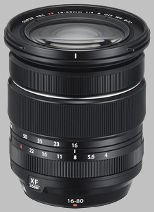 image of the Fujinon XF 16-80mm f/4 R OIS WR lens